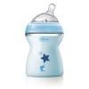 Бутылочка Chicco Natural Feeling + силиконовая соска с наклоном и флексорами, 250 мл (голубая)