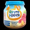 Пюре ФрутоНяня Говядина с овощами с 8 мес, 100 г