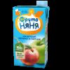 Сок ФрутоНяня из яблок и персиков неосветленный, 0,5л