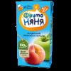 Сок Фрутоняня яблочно-персиковыйс мякотью, 200мл