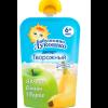 Бабушкино Лукошко десерт яблоко, банан, творог  90гр (пауч)